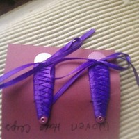 Wild Ivy Design | Purple Woven Hair Clips | Online Store Powered by Storenvy