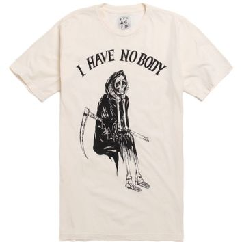 Bad Acid I Have No Body T-Shirt - Mens Tee - White -