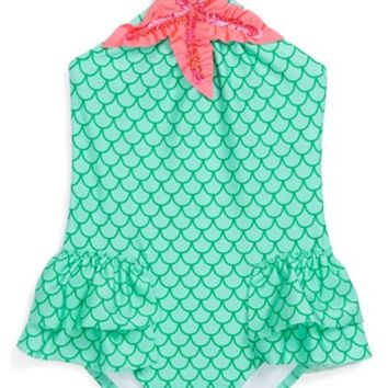 Love U Lots 'Mermaid' One-Piece Swimsuit (Toddler Girls)