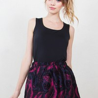 Berry Brocade Skirt*