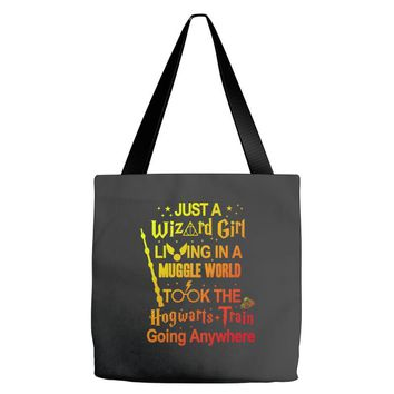 Just A Wizard Girl Living In A Muggle World Tote Bags