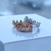 Princess Crown Stackable Ring
