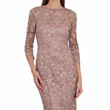 JS Collections - Quarter Length Sleeves Lace Dress 864572