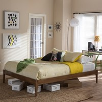 Baxton Studio Mid-century Modern Solid Wood Platform Bed | Overstock.com Shopping - The Best Deals on Beds