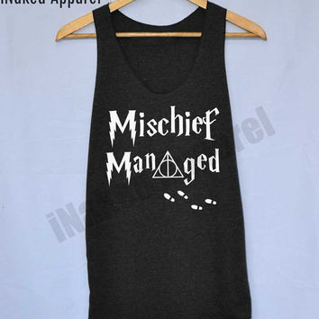 Mischief Manage Harry Potter Magic Spell Shirts Tank Top Vintage Unisex Size S M L