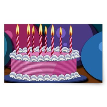 Birthday Rectangular Sticker