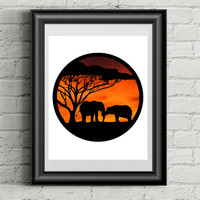 Elephant Papercut, Elephant Art, Hand Cut Paper Cut, Elephant Decor, Silhouette Pictures, Elephant Nursery, Animal Art, Elephant Artwork