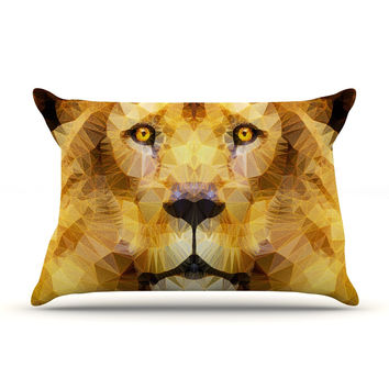 "Ancello ""Lion King"" Yellow Brown Pillow Sham"