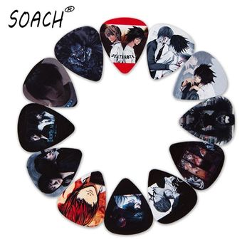 SOACH 10pcs 3 kinds of thickness new guitar picks bass Japanese Anime Death Note pictures high quality print Guitar accessories