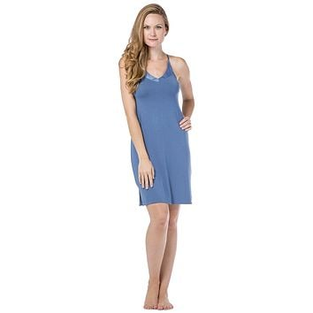 Women's Essential V-Neck Modal Nightgown Chemise