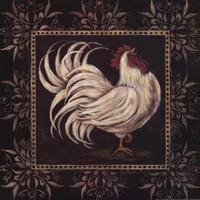 New Black & White Rooster I by Jo Moulton Rustic Art Print Home Decor 254297