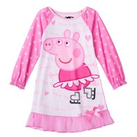 Peppa Pig Skating Nightgown - Toddler Girl, Size: