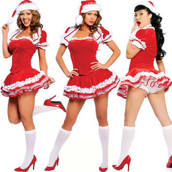 Women's Christmas Fancy Suit Costume Xmas Outfit = 4427576964