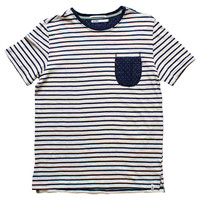 Altru Apparel Navey Stripes W/Pocket T-shirt (Only Size S,M & 2XL)