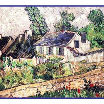 The House IN Auvers inspired by Impressionist Vincent Van Gogh's Painting Counted Cross Stitch or Counted Needlepoint Pattern