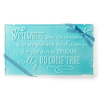 Somewhere Over the Rainbow Ceramic Plaque