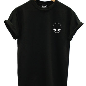 Alien Pocket Logo Left Chest Street Fashion Tshirt Hipster Swag Tumblr Brand New T Shirt