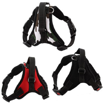 Medium & Large Dog Harness With Vest Reflective Tape