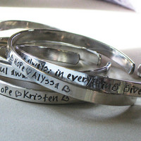 CUFF BRACELETS - Choose Your Own Words Personalized Sterling Silver Cuff Bracelet Bangle - Christina Guenther