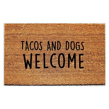 Tacos and Dogs Welcome Doormat