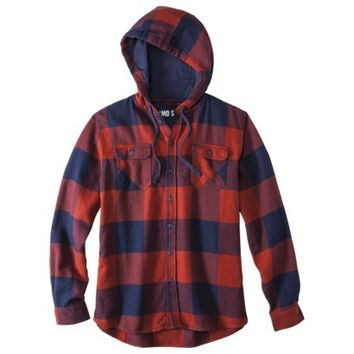 Mossimo Supply Co. Men's Long Sleeve Button Down Hooded Flannel - Assorted Colors