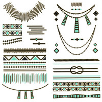 Metallic Southwestern Temporary Tattoos 253962079 | Hair & Skin