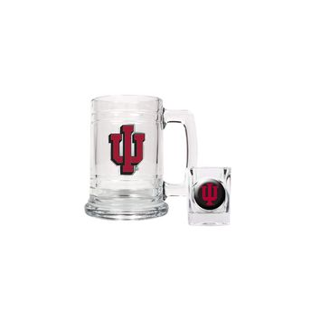 Indiana University Shot Glass and Mug Set - Etching Personalized Gift Item