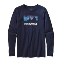 Patagonia Men's Long-Sleeved Shop Sticker Cotton T-Shirt