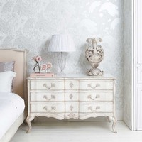 Delphine Distressed Shabby Chic Chest of Drawers