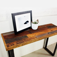 Reclaimed Wood Patchwork Hall Table