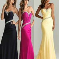 New Sexy Long Sweetheart Fromal Cocktail Evening Dresses Bridesmaid Party Prom Gown