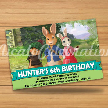 Peter Rabbit Design Invitation - Digital File