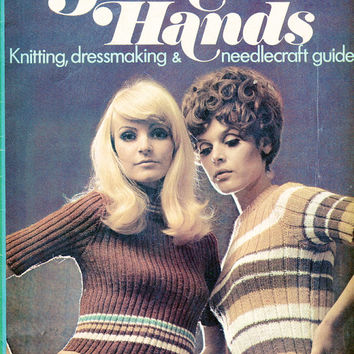 1970's Golden Hands Crafts Magazine Part 5 -  Vintage Knitting, Dressmaking, Needlecraft Guide