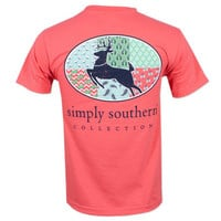 Simply Southern Pearl Deer T-Shirt - Coral