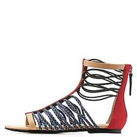 GX BY GWEN STEFANI STRAPPY GLADIATOR SANDALS