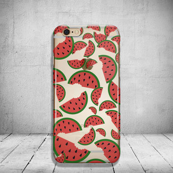 iPhone 6 Case Watermelon Clear iPhone 6s Case Clear iPhone 6 Case iPhone 5s Case iPhone 6s Plus Case Soft Silicone iPhone Case No: 55