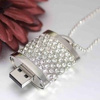 High Quality 8gb Lock Jewelry USB Flash Memory Drive Necklace