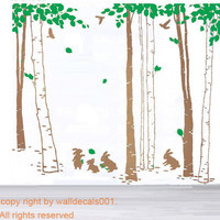 Vinyl Wall Decals wall Sticker tree decals by walldecals001