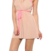 What Goes Around Dress - Nude + Pink -  $40.00 | Daily Chic Dresses | International Shipping