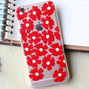 Hollow Out Red Flower iPhone 5se 5s 6 6s Plus Case Cover + Nice Gift Box 364-170928