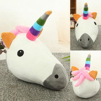 32cmx39cm Decorative Unicorn Horse Throw Pillow Cartoon Animal Cushion Home Decor Ornament For Livingroom 2016 Christmas