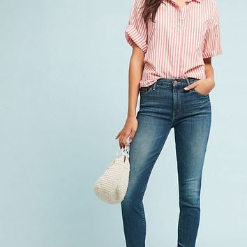 Mother The Looker High-Rise Cropped Skinny Jeans