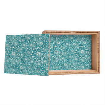 Heather Dutton Bursting Bloom Peacock Jewelry Box
