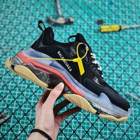 Balenciaga Triple S Clear Sole Trainers Black/Pink - Best Online Sale