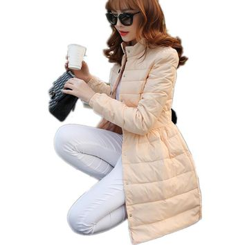 Winter Collar Long Section of White Velvet Thick Down Jacket Single-breasted Slim Women's Warm Down Jacket Winter Dress LXT48