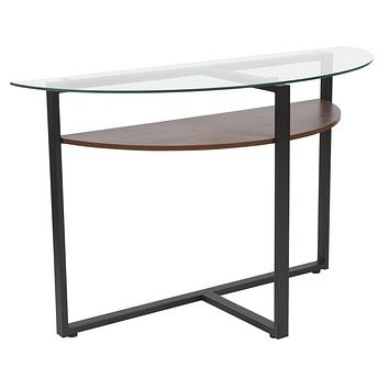 Princeton Collection Console Table with Wood Finish and Metal Legs