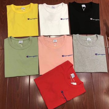 Champion Embroidery Logo Short sleeve T-shirt