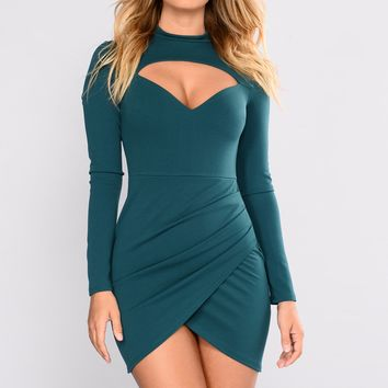 Tonia Dress - Hunter Green