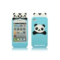 Cute PANDA Soft Silicon Back Case Cover skin for iPhone 4 4G