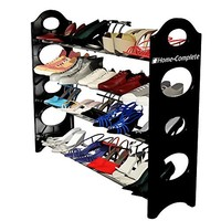 Home Basics Shoe Rack, 50-Pair, Black